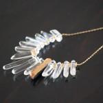 Crystal Quartz Spike Necklace